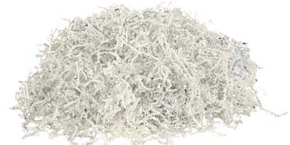White Silver crinkle paper shred