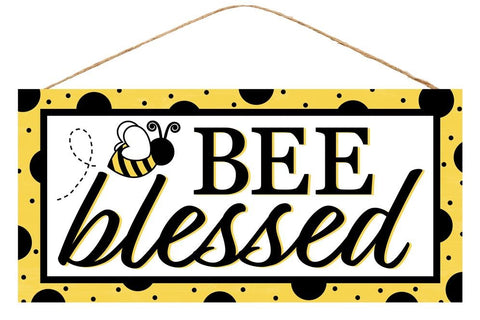 bee blessed bumblebee sign