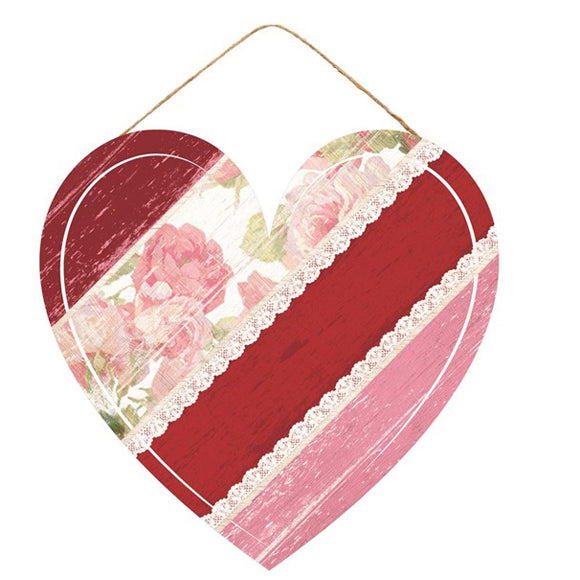 floral heart, lace heart