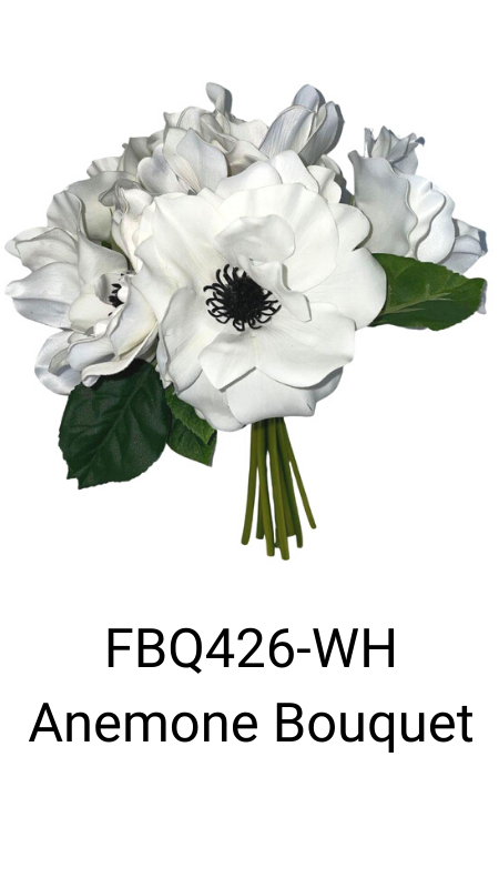 White anemone artificial flower