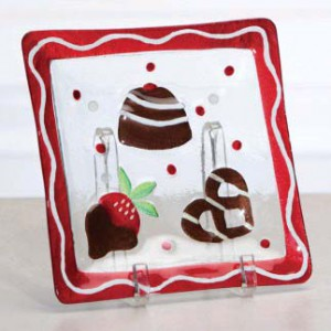 chocllate glass platter