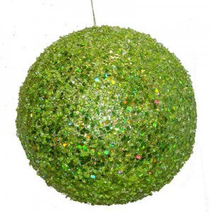lime green glittered large ball