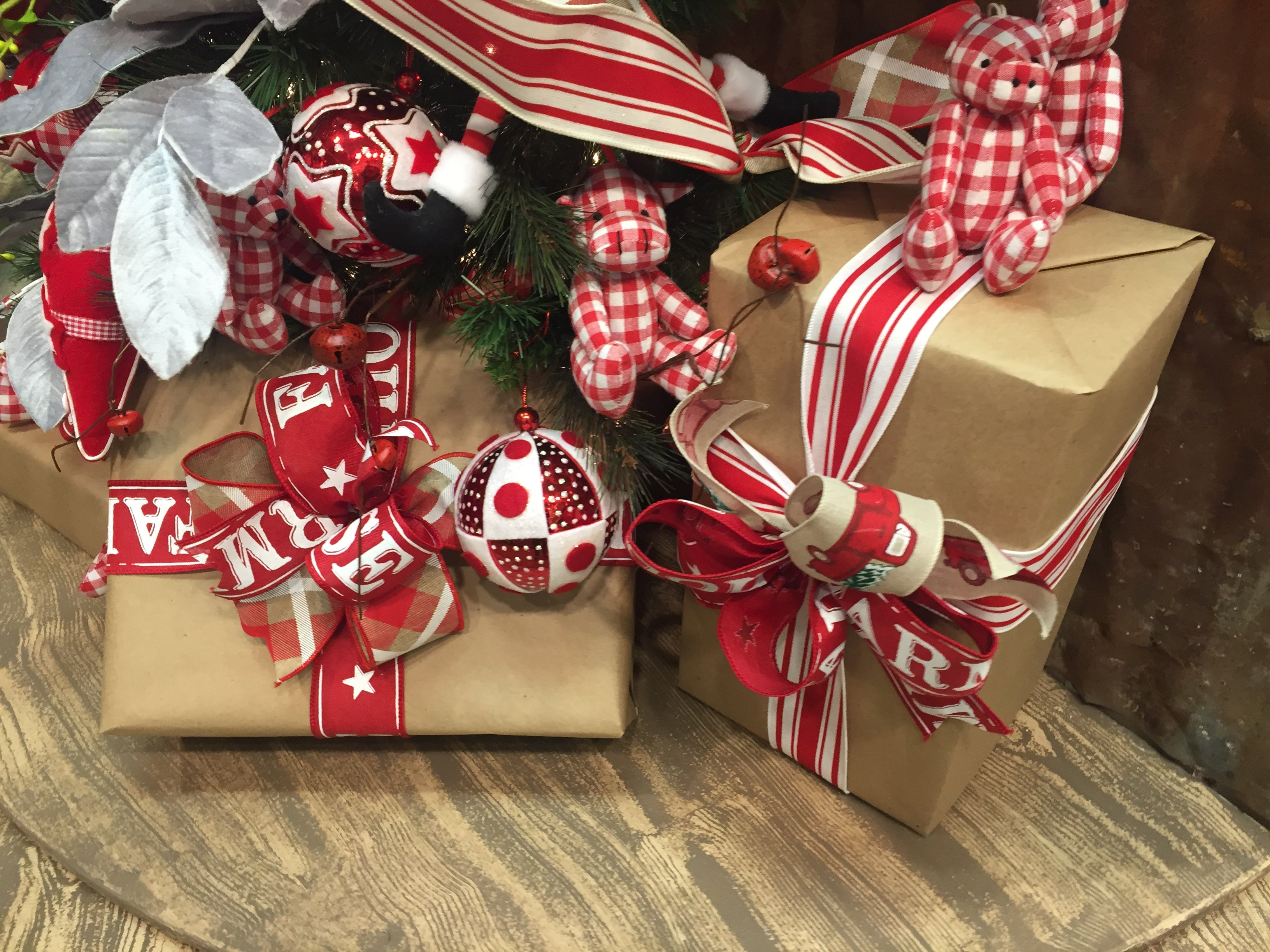 kraft paper, brown paper packages, gift wrapping, christmas present,