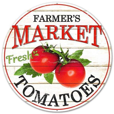 farmer's market tomato sign