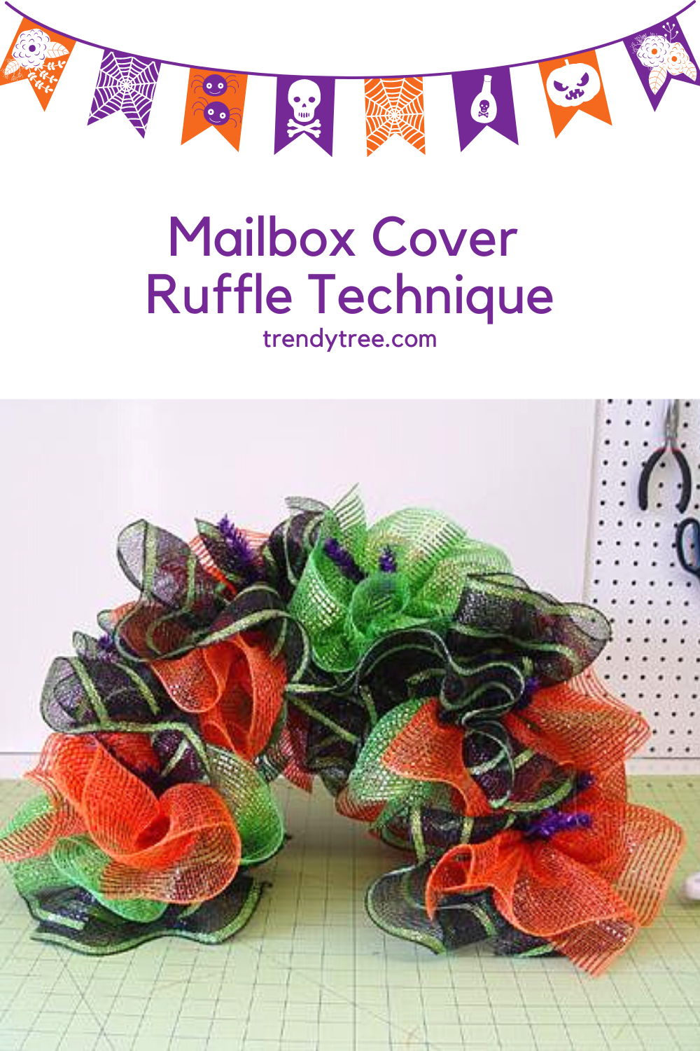 Deco Mesh Mailbox cover, supplies from Trendy Tree
