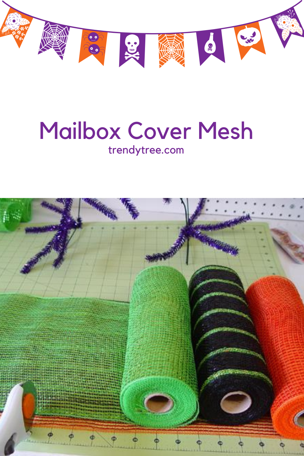 Cutting Deco Mesh with a Rotary Cutter and Cutting Mat at Trendy Tree