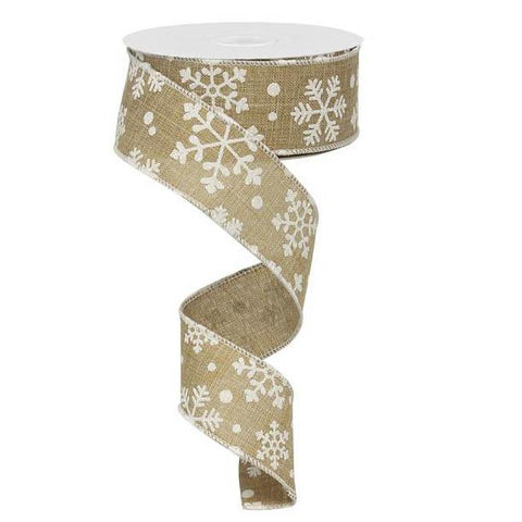 beige and white falling snow ribbon