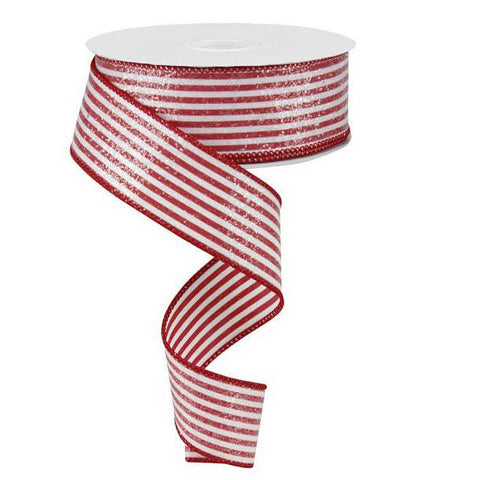 red and white vertical stripe ribbon