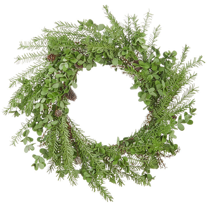 premade wreath, eucalyptus wreath