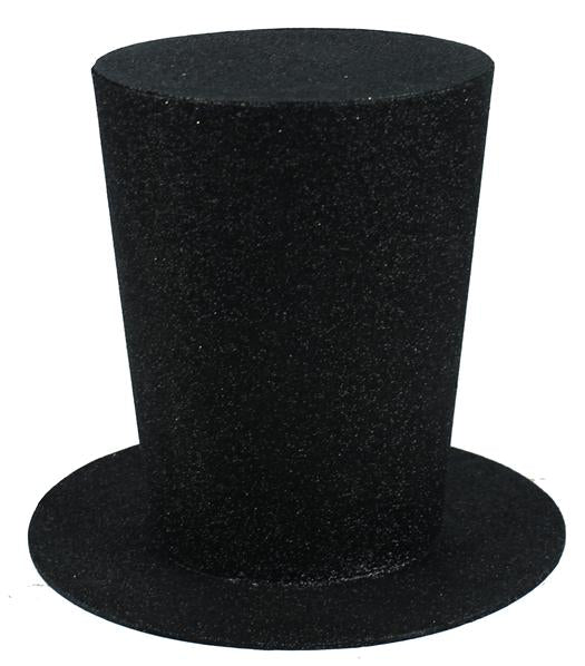 XC9782-black-glitter-top-hat-9-inch-trendytree