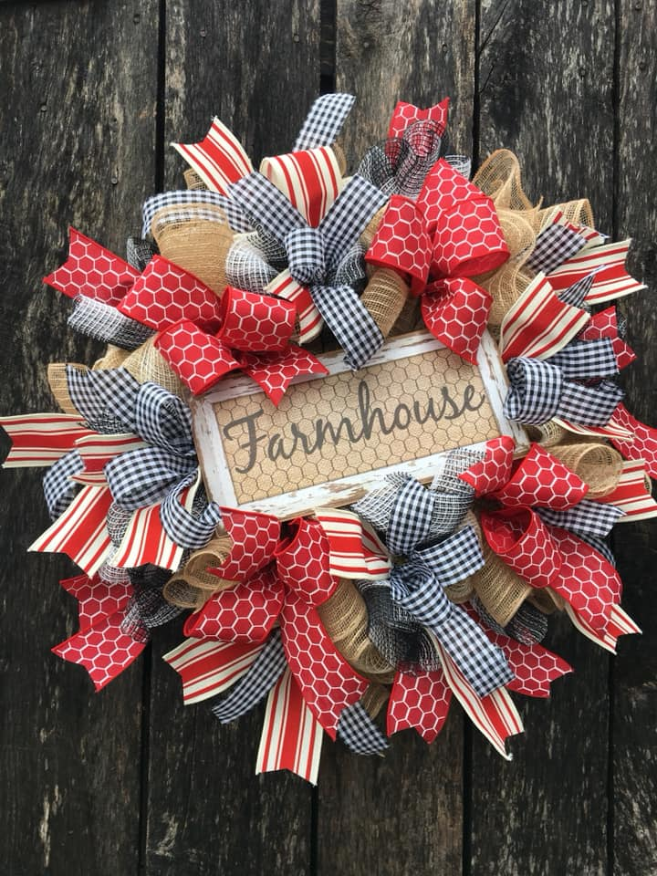 farmhouse, farmhouse wreath, everyday wreath