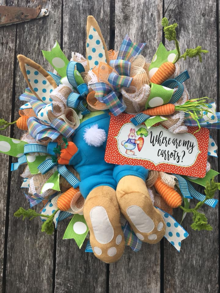 bunny butt, bunny wreath, easter wreath