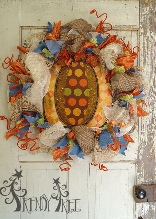 autumn-pumpkin-wreath-tutorial-polka-dot-pumpkin