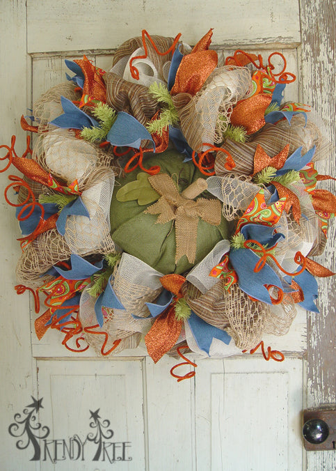 autumn-pumpkin-wreath-tutorial-raz-green-pumpkin