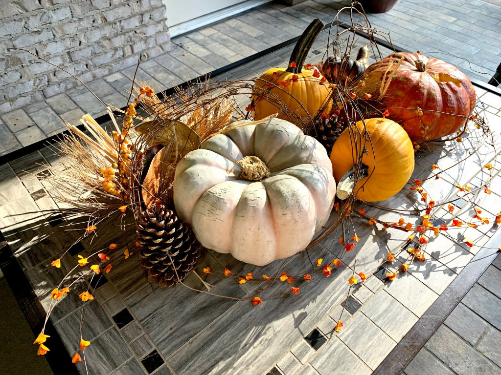 fall back porch decoration, coffeetable decor, fall pumpkins, outdoor decorating for fall