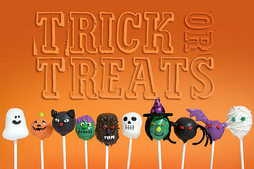 halloween trick or treat cake pops
