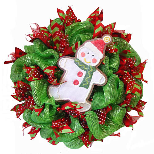 basic-green-wreath-large-snowman-cookie