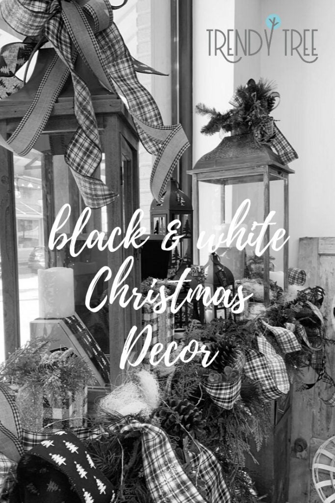 Black White Christmas Decorations Trendy Tree