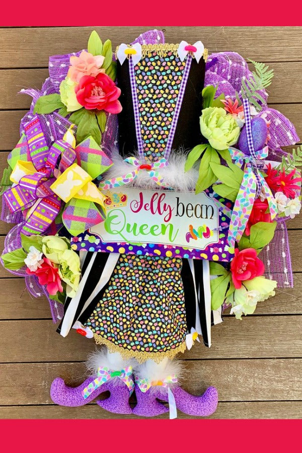 Jelly Beans, Easter Wreath, Jelly Bean Queen,
