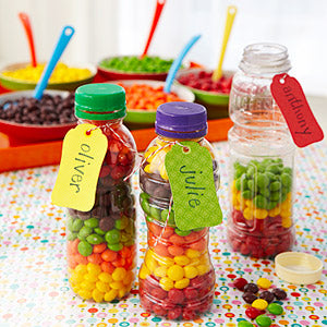 fill empty bottles with candy