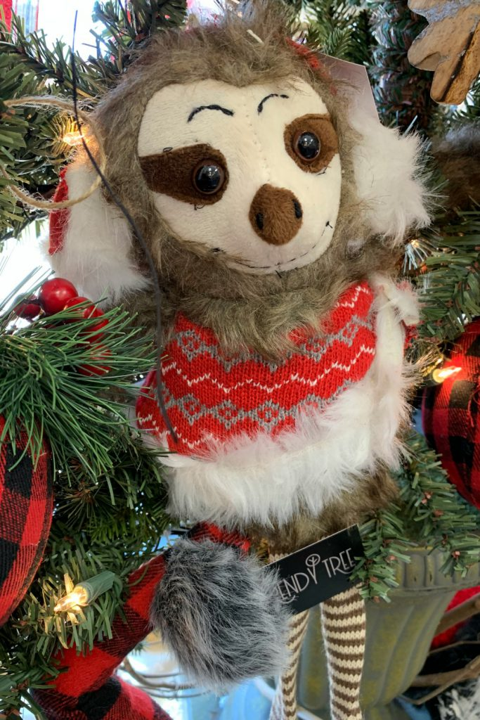 sloth, sloth shelf sitter, christmas slowth