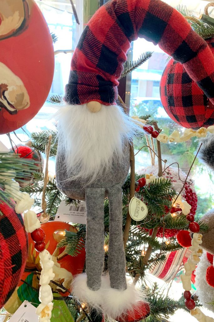 grey gnome, red black gnome, buffalo plaid, buffalo check gnome