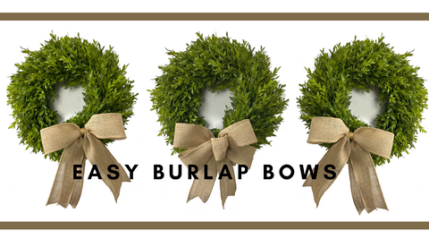 burlap bow tutorial from trendy tree using the ez bowmaker