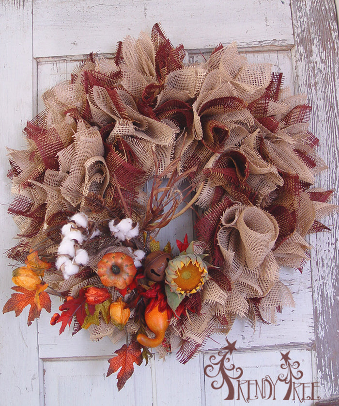 burlap-paper-mesh-wreath-cottonboll-spray