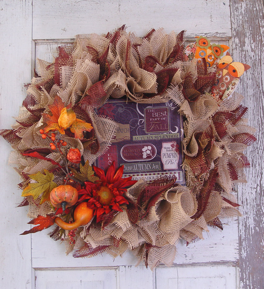 burlap-paper-mesh-wreath-fall-sign
