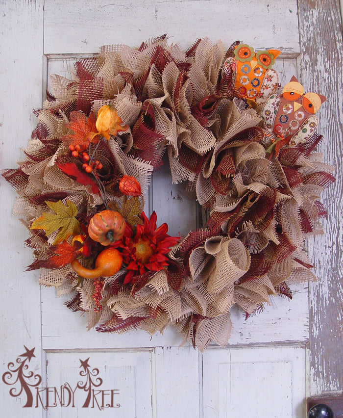 burlap-paper-mesh-wreath-without-yellow-sunflowers