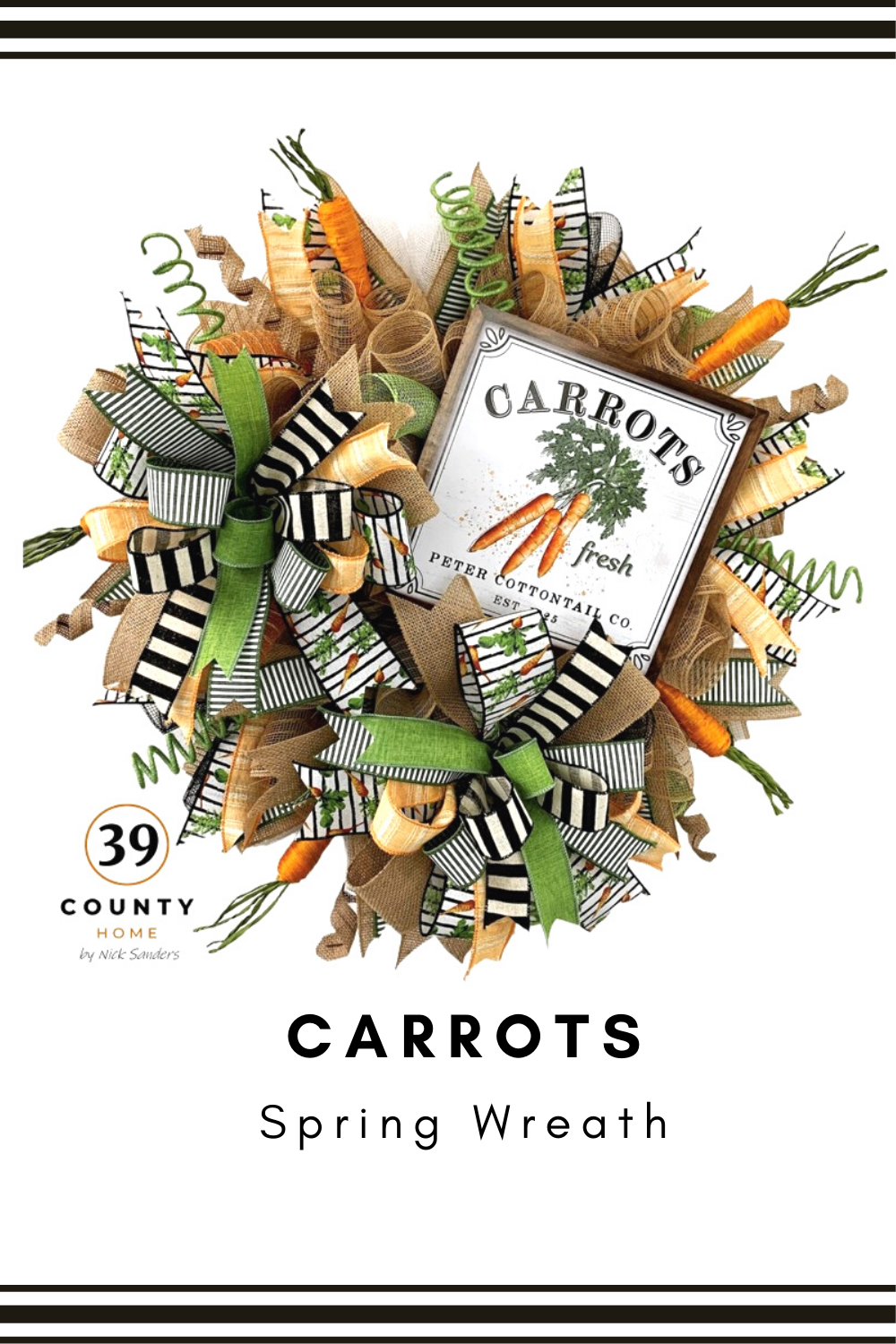 carrots spring wreath