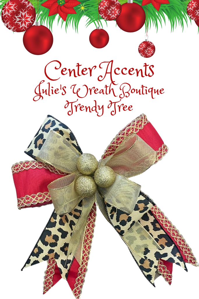 add tiny ornaments to the center of your bow