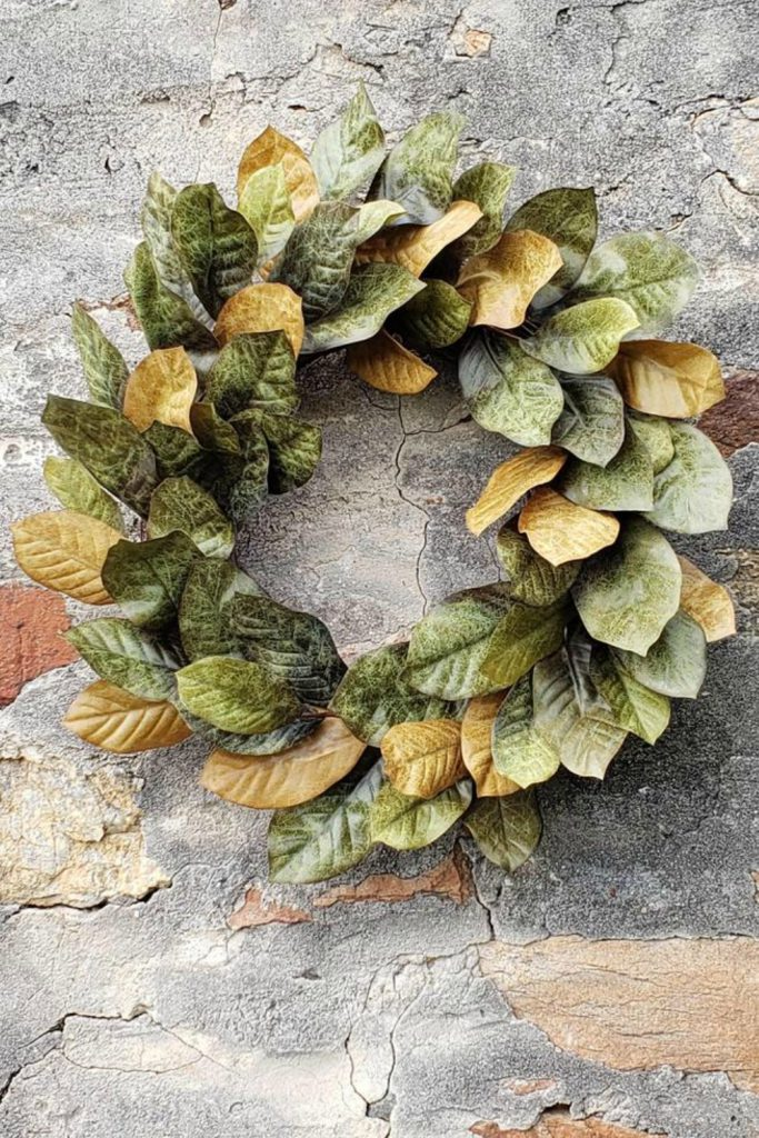 Fall wreath, Fall grapevine wreath, Fall Magnolia Leaf wreath, Autumn wreath, Fall decor, Thanksgiving wreath