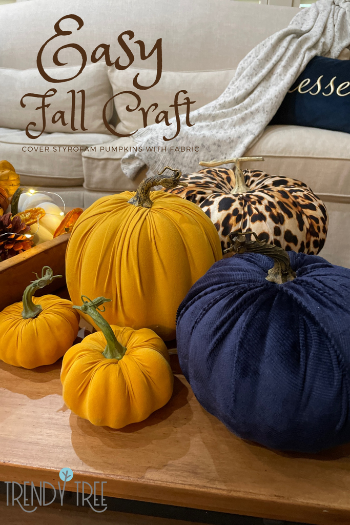 cover pumpkins with fabric