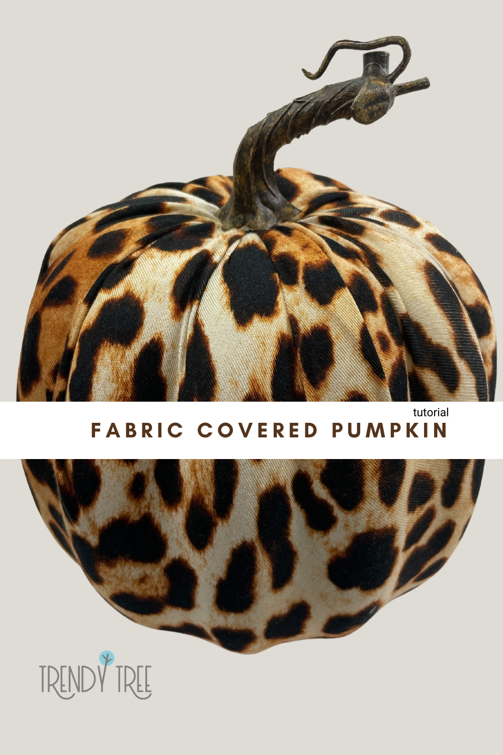 How to Cover a Cheap Styrofoam Pumpkin with Fabric
