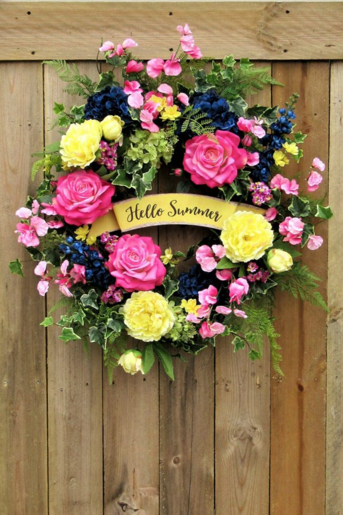 Farmhouse wreath, cow wreath, summer country wreath