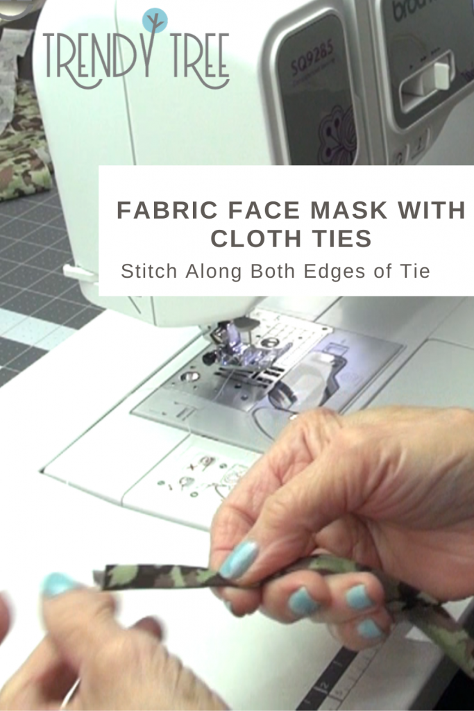 stitch cloth ties for face mask
