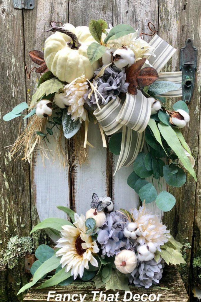 Fall farmhouse pumpkin stand, farmhouse decor, farmhouse arrangement, fall centerpiece, fall farmhouse mantle, fall farmhouse porch, fall