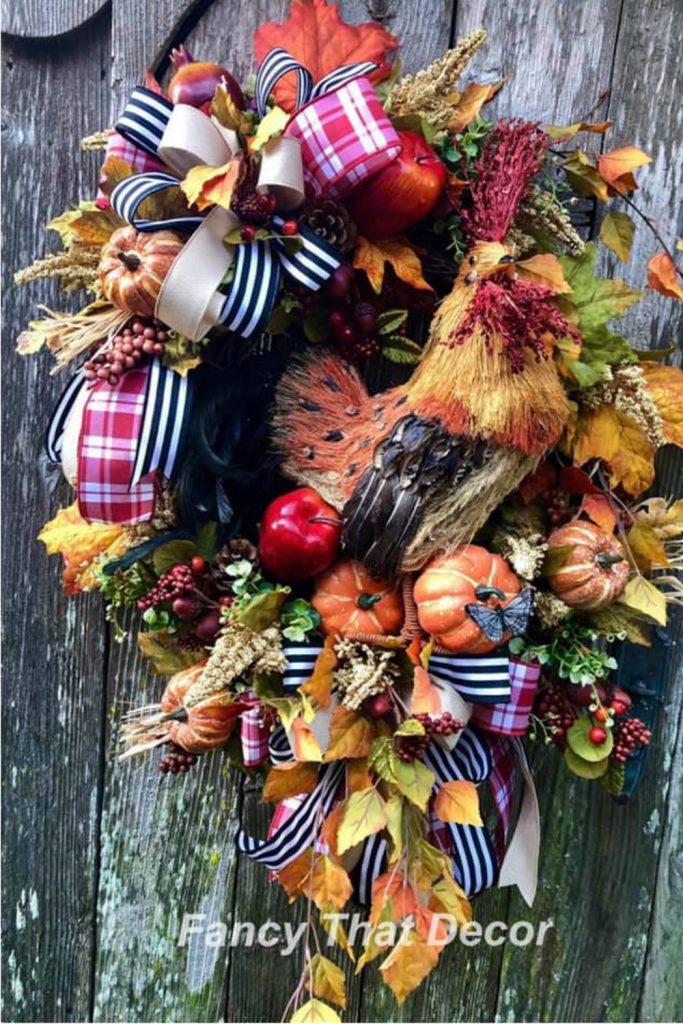 Fall Rooster Wreath, Learn how to make a wreath