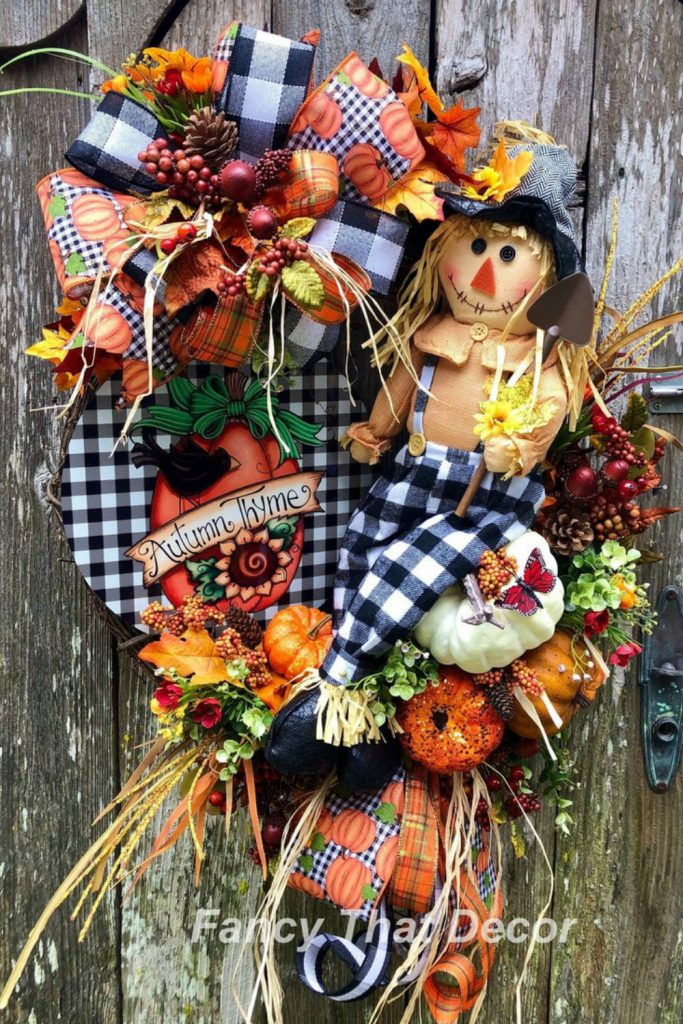 Fall Home grapevine wreath, autumn grapevine wreath, fall floral wreath, autumn floral wreath, teal orange wreath, thanksgiving wreath, fall