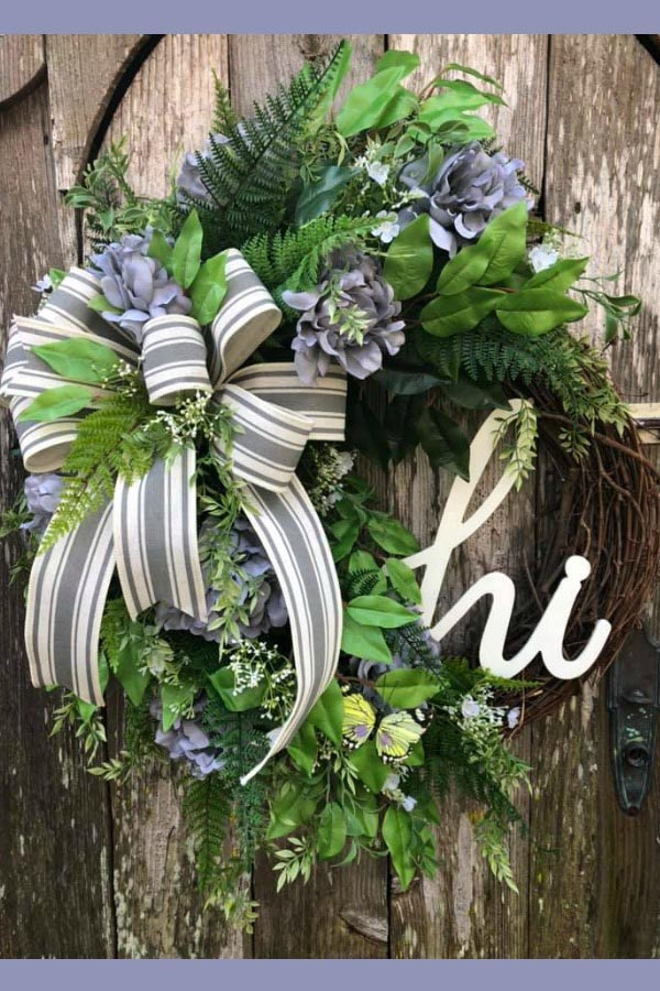Peonie wreath, year round wreath, everyday wreath, hi sign, everyday greenery wreath, Mother's Day wreath,Mother's Day gift, housewarming