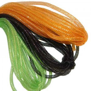 halloween colors of deco poly flex tubing orange black lime green