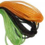 halloween colors orange, black green deco flex tubing
