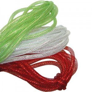 lime green, red, white, deco poly flex tubing