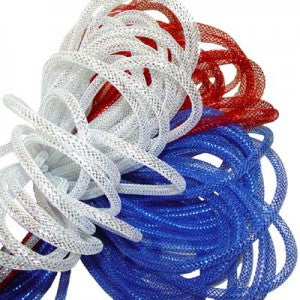 red white blue deco poly flex tubing