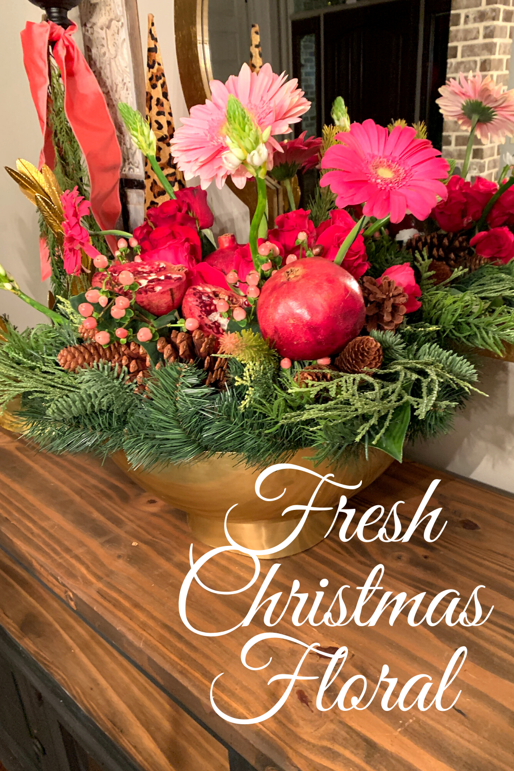 Fresh Christmas Floral with Pomegrantes