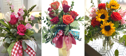 fresh flowers for valentine's day