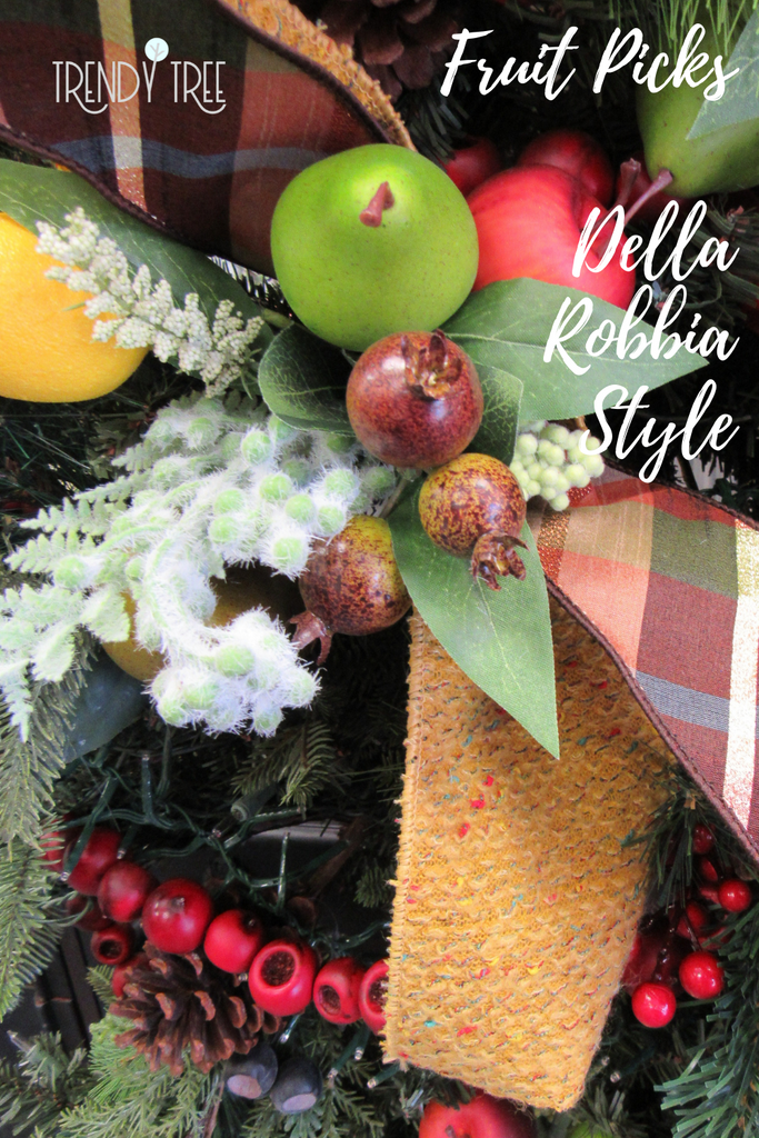 Williamsburg style fruit pick for Christmas tree