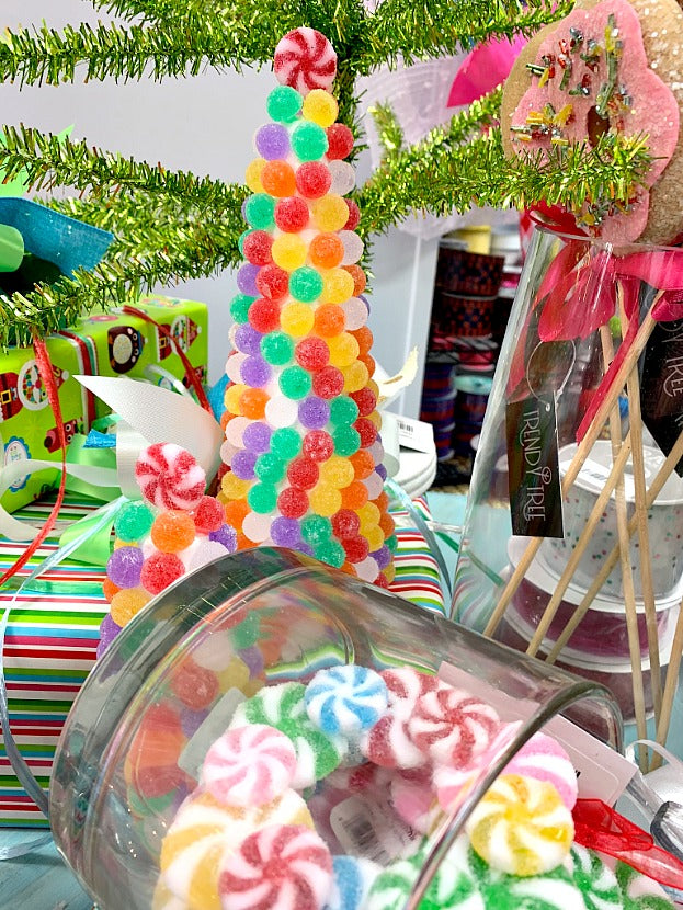 gumdrop tree, gumdrops, candy decorations, candy land, candyland