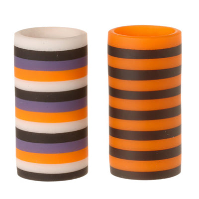 RAZ Striped Halloween Battery Powered Candles